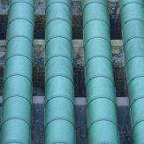 Series of Green Water Pipes